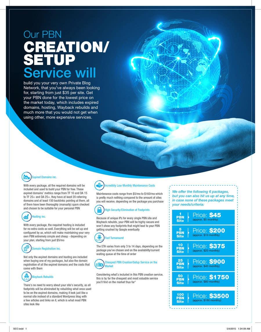 Konkurrenceindlæg #6 for Design an Advertisement for an SEO-related Service (PBN Creation/Setup Service)