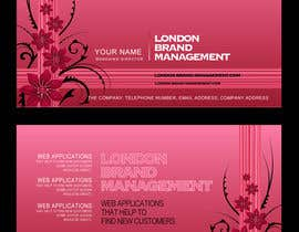 #39 per Business Card Design for London Brand Management da sreekanthize