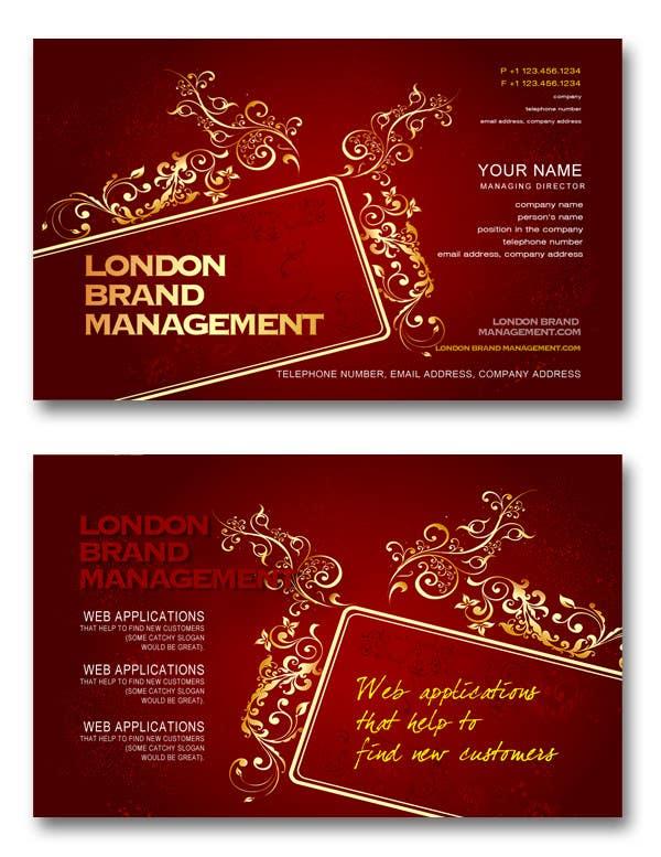 Penyertaan Peraduan #                                        43                                      untuk                                         Business Card Design for London Brand Management