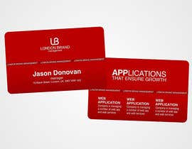 #46 dla Business Card Design for London Brand Management przez neXXes