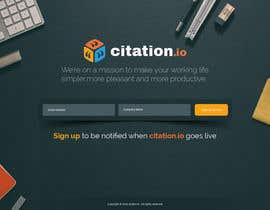 #59 para Design a simple landing page for citation.io por tania06