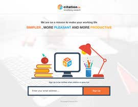 #31 para Design a simple landing page for citation.io por mostafahawary