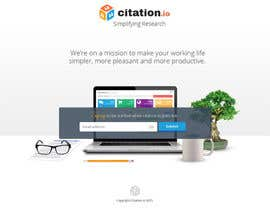 #38 para Design a simple landing page for citation.io por creationofsujoy