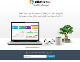 #52 para Design a simple landing page for citation.io por creationofsujoy