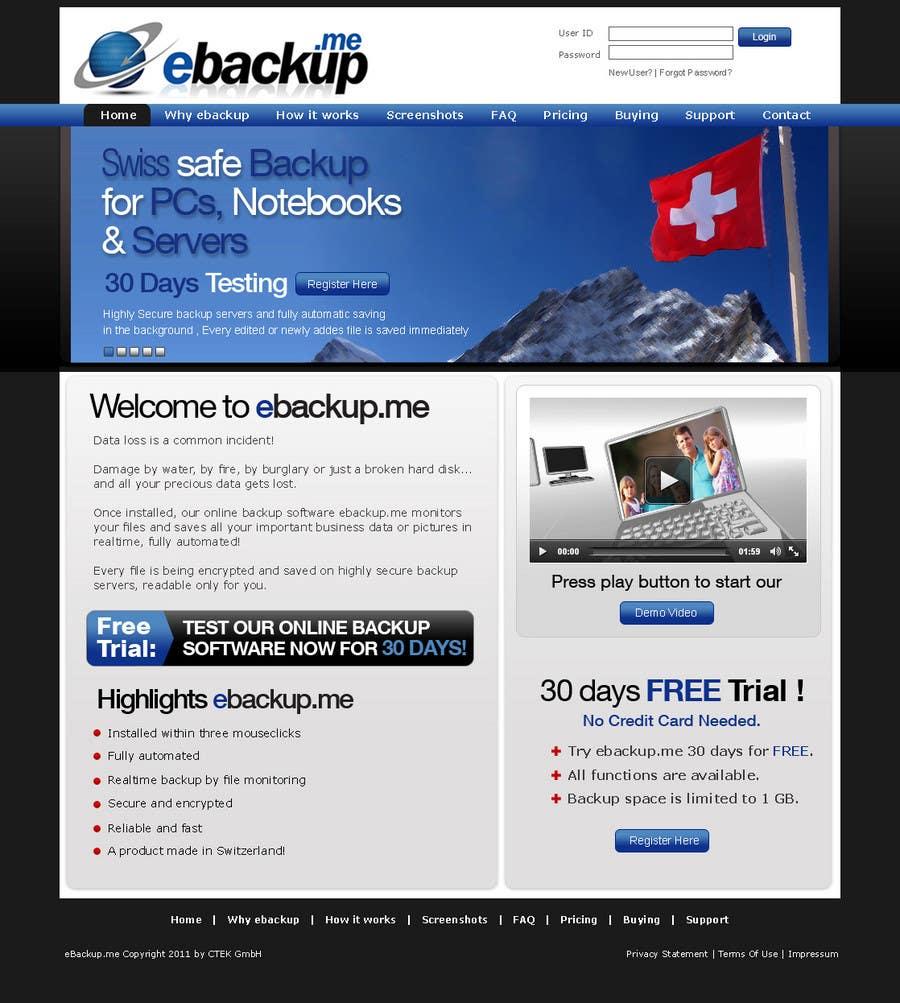 Contest Entry #                                        67                                      for                                         Website Design for Ebackup.me Online Backup Solution