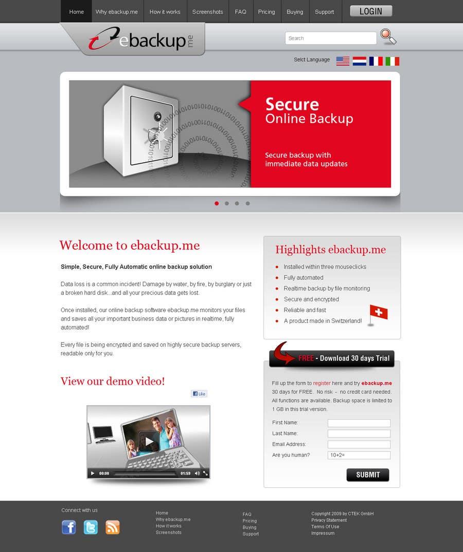 Contest Entry #                                        85                                      for                                         Website Design for Ebackup.me Online Backup Solution