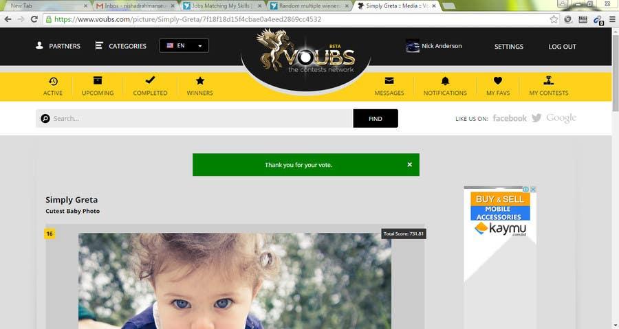 Penyertaan Peraduan #58 untuk Random multiple winners!!! -Vote for me and post a screenshot