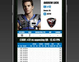 nº 5 pour Design an App Mockup for an iPhone/iPad Fantasy Football application par dizzoffice
