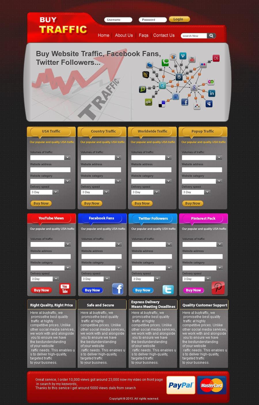 Inscrição nº                                         9                                      do Concurso para                                         Design a Website Mockup for my site