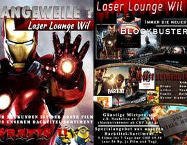 #28 para Design a Flyer for DVD Rental named LASER LOUNGE por uniqmanage