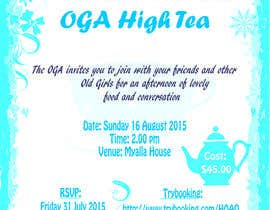 nº 23 pour High Tea Invitation par GraphicA2Z