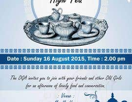 nº 9 pour High Tea Invitation par sandipdhanad