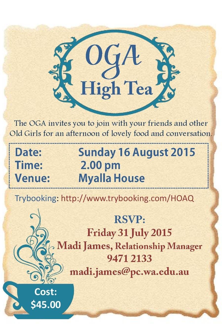 Inscrição nº 21 do Concurso para High Tea Invitation