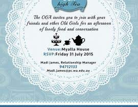 #22 para High Tea Invitation por starfz