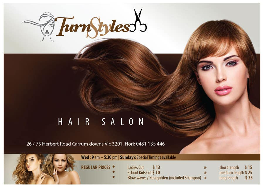 Bài tham dự cuộc thi #12 cho Design a Flyer for Hair Salon
