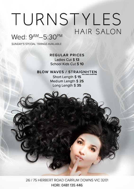 Bài tham dự cuộc thi #3 cho Design a Flyer for Hair Salon