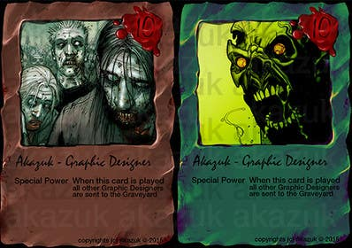 #19 for Design Trading Card for Zombies Card Game af akazuk