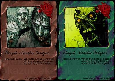 Nro 19 kilpailuun Design Trading Card for Zombies Card Game käyttäjältä akazuk