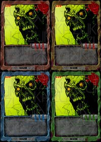#26 for Design Trading Card for Zombies Card Game af akazuk