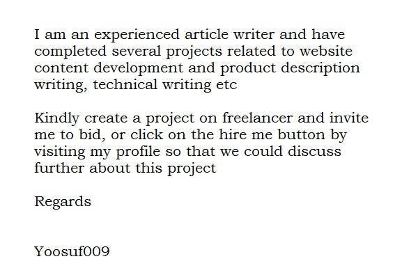 Penyertaan Peraduan #1 untuk Product Decription Content Writing