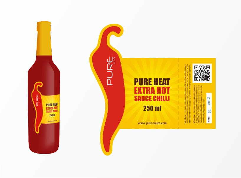 #84 for Graphic Design for Chilli Sauce label by brendlab