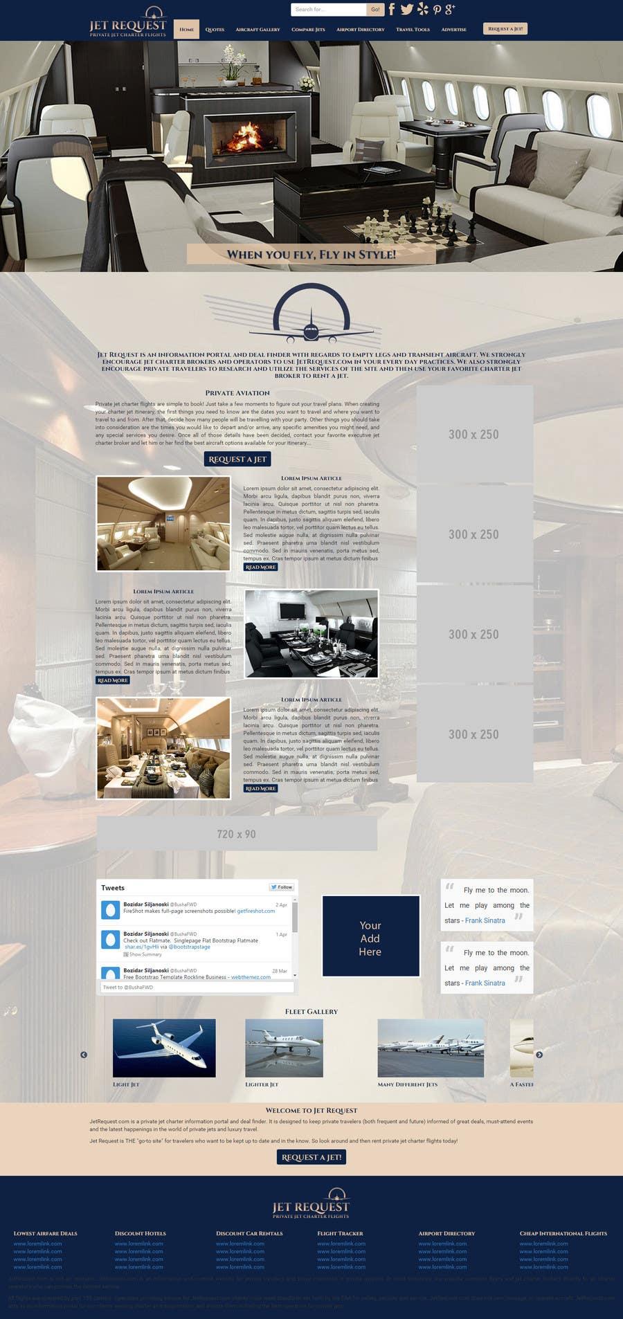 Konkurrenceindlæg #                                        37                                      for                                         Design a Website Mockup for Private Jet company