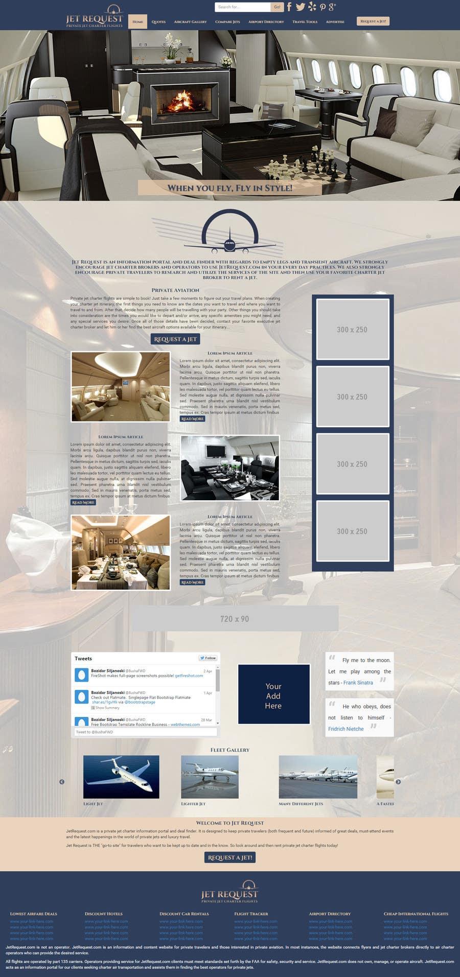 Konkurrenceindlæg #                                        39                                      for                                         Design a Website Mockup for Private Jet company
