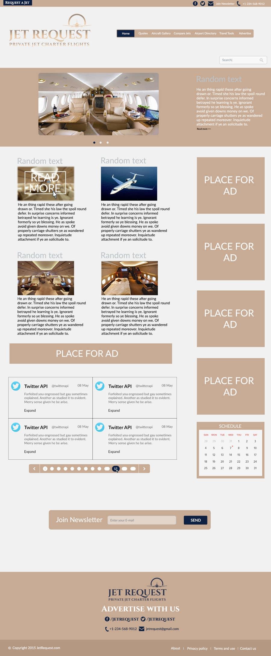 Konkurrenceindlæg #                                        11                                      for                                         Design a Website Mockup for Private Jet company