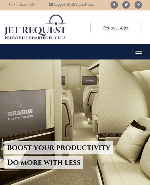 Konkurrenceindlæg #                                        23                                      for                                         Design a Website Mockup for Private Jet company