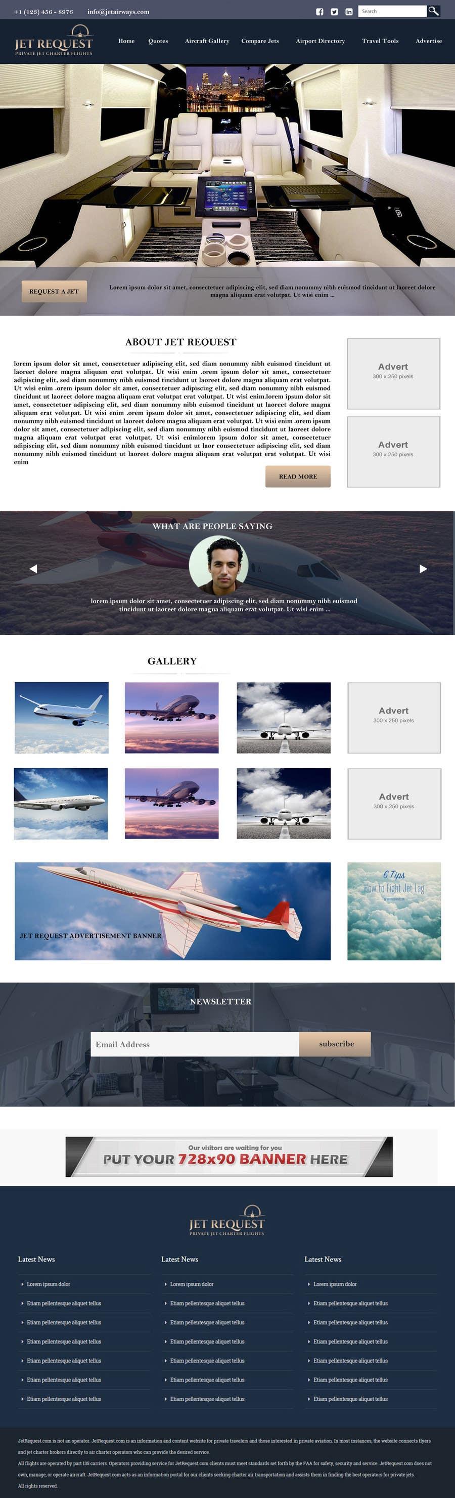 Konkurrenceindlæg #                                        14                                      for                                         Design a Website Mockup for Private Jet company