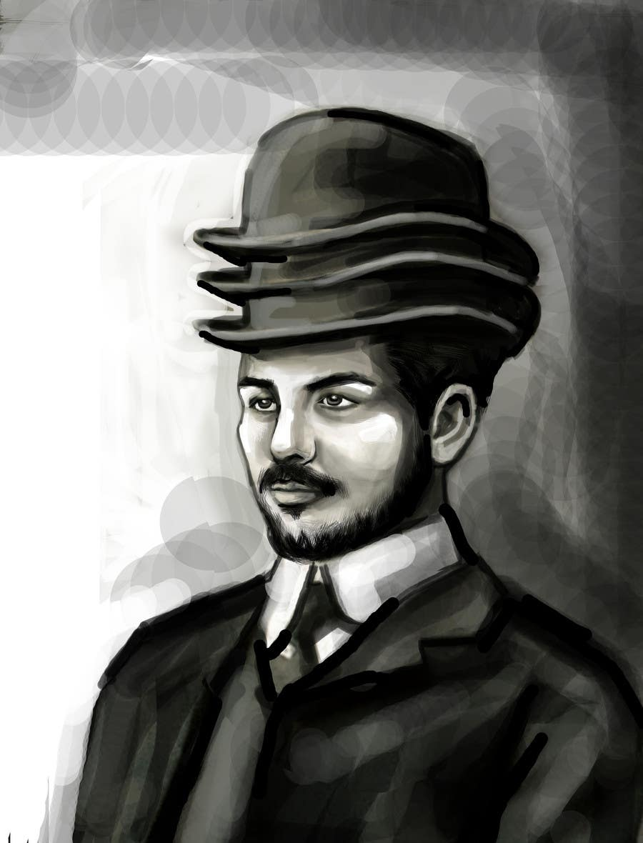 Konkurrenceindlæg #                                        4                                      for                                         Create a Portrait Drawing of a late 19th Century Man wearing Multiple Bowler Hats