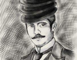 nº 9 pour Create a Portrait Drawing of a late 19th Century Man wearing Multiple Bowler Hats par nonie26