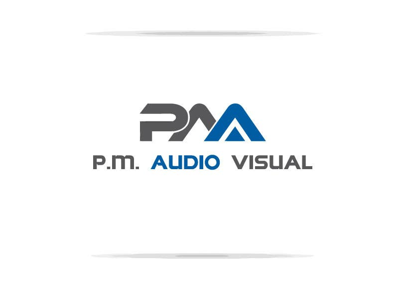 Konkurrenceindlæg #                                        3                                      for                                         Design a Logo for company named P.M. Audio Visual
