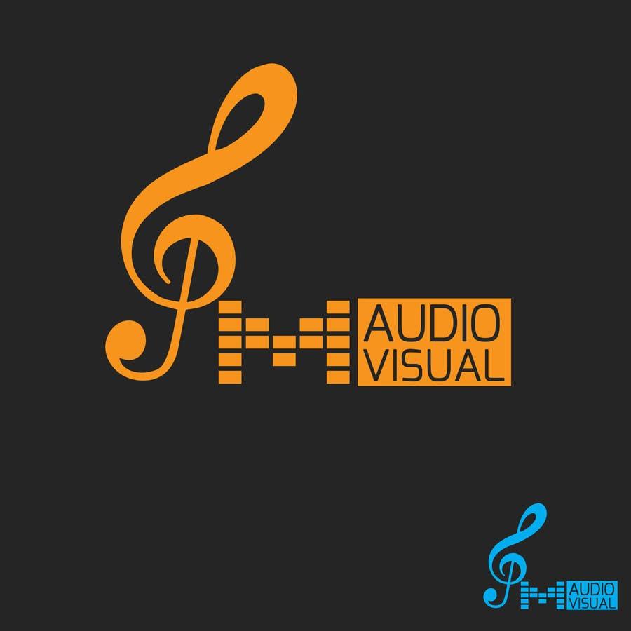 Konkurrenceindlæg #                                        43                                      for                                         Design a Logo for company named P.M. Audio Visual