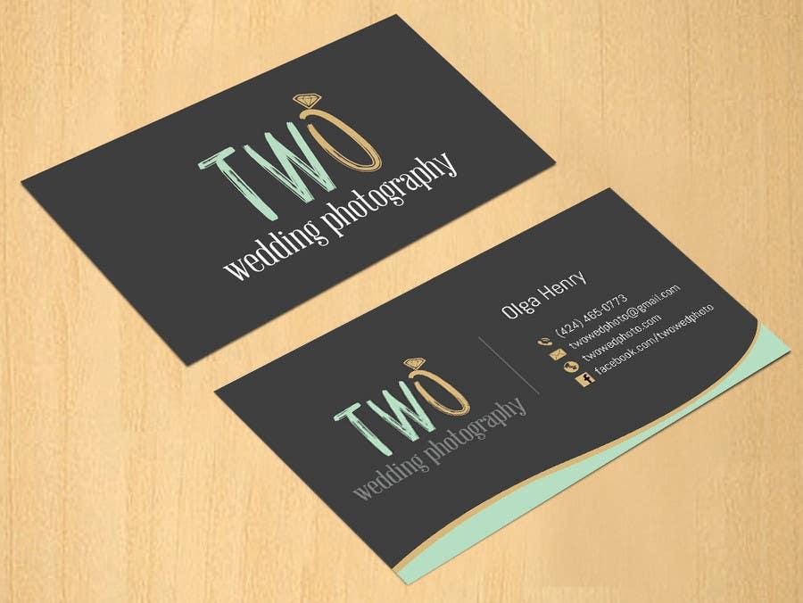 Konkurrenceindlæg #54 for Design some Business Cards for wedding photographers