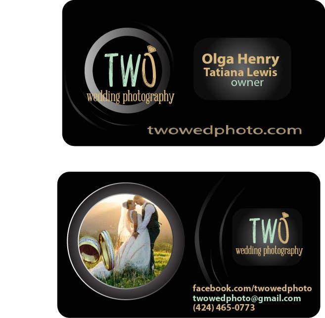 Konkurrenceindlæg #24 for Design some Business Cards for wedding photographers