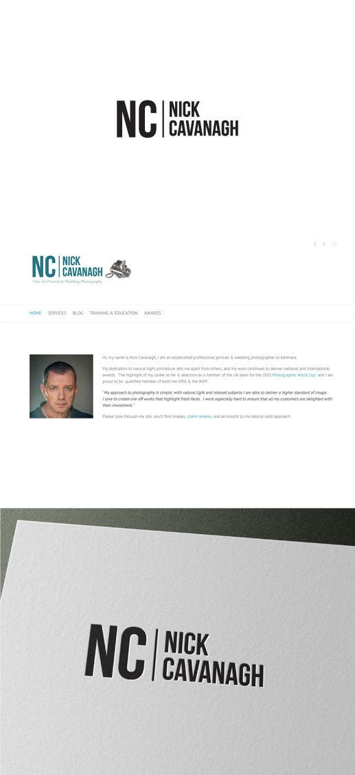 Contest Entry #                                        17                                      for                                         Design a Logo for Nick Cavanagh . A working photographer in Ireland.
