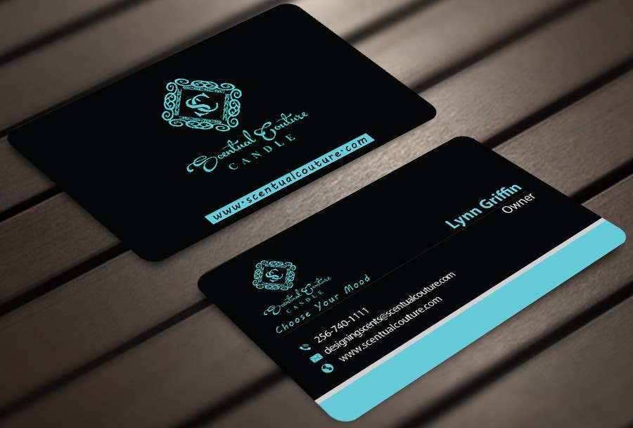 Konkurrenceindlæg #                                        19                                      for                                         Create business card for Scentual Couture Candle