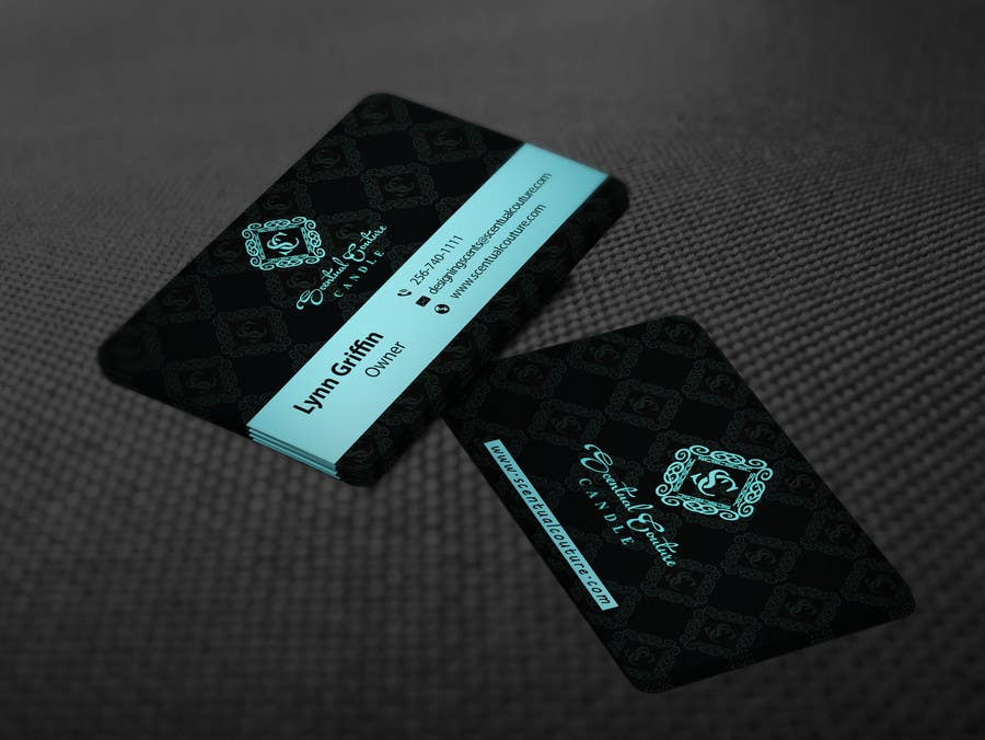 Konkurrenceindlæg #                                        26                                      for                                         Create business card for Scentual Couture Candle