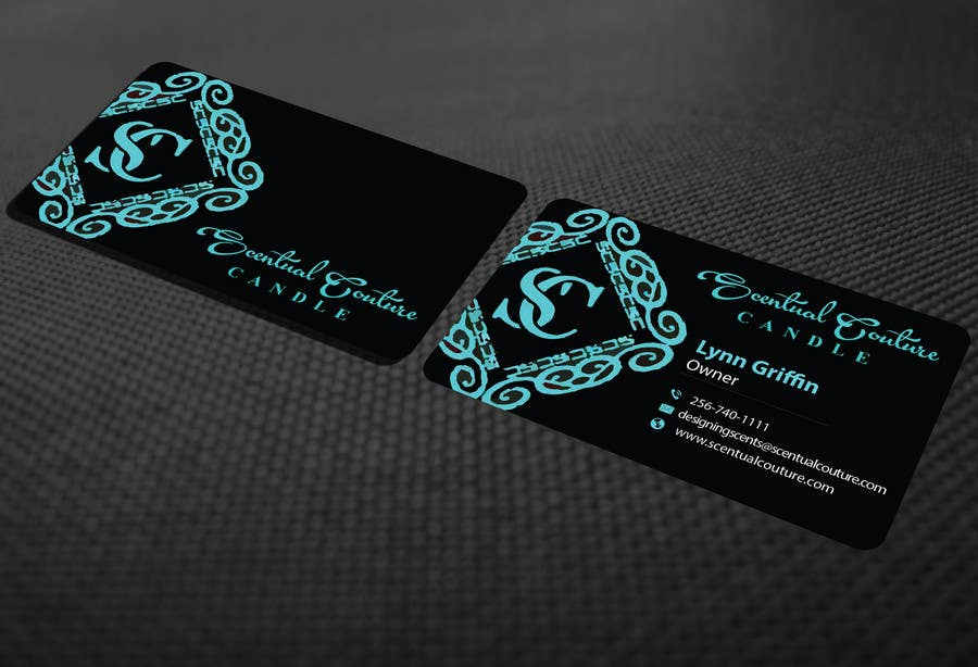 Konkurrenceindlæg #                                        43                                      for                                         Create business card for Scentual Couture Candle