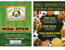 #7 untuk Design a Flyer for my sports bar oleh teAmGrafic