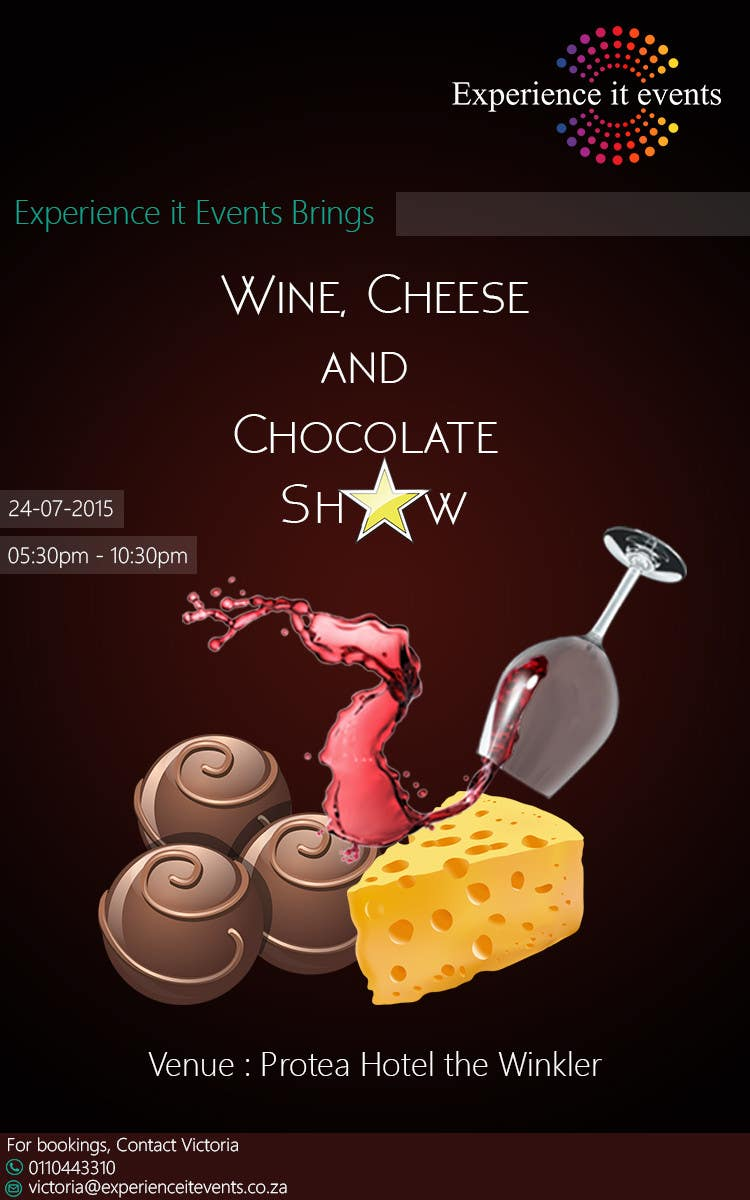 Konkurrenceindlæg #3 for Design a Flyer for wine,cheese and chocolate show