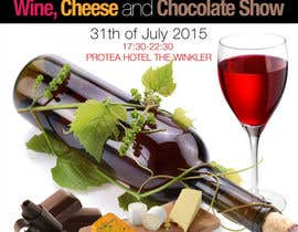 #20 for Design a Flyer for wine,cheese and chocolate show af silvi86