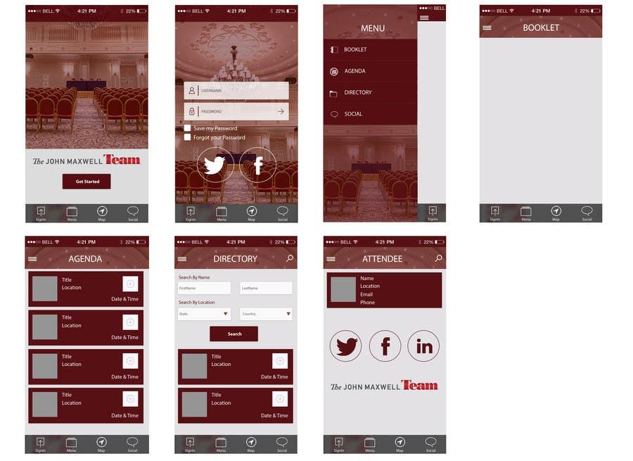 Penyertaan Peraduan #10 untuk Design a Website Mockup for an APP