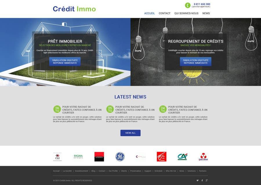 Konkurrenceindlæg #10 for I need Mockup for Website for Home Credit