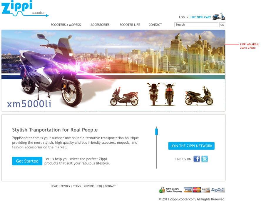 Konkurrenceindlæg #                                        4                                      for                                         ZippiScooter.com Ad Campaign