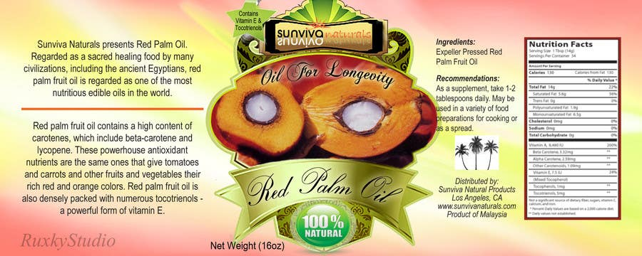 Bài tham dự cuộc thi #                                        5                                      cho                                         Red Palm Oil Label
