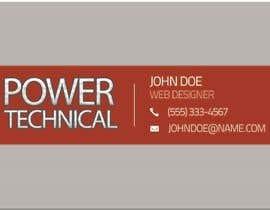 #11 untuk Design some Business Cards for Power technical oleh f0tis