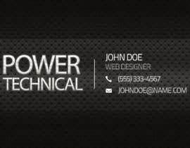 #13 untuk Design some Business Cards for Power technical oleh f0tis