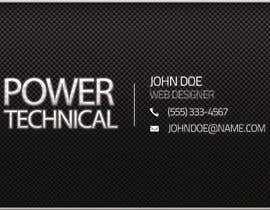 #17 untuk Design some Business Cards for Power technical oleh f0tis
